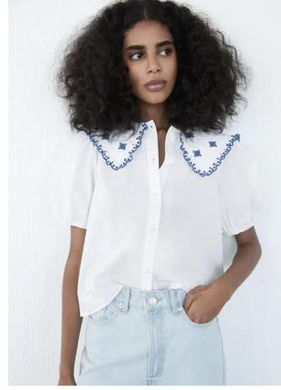 Рубашка с воротничком zara