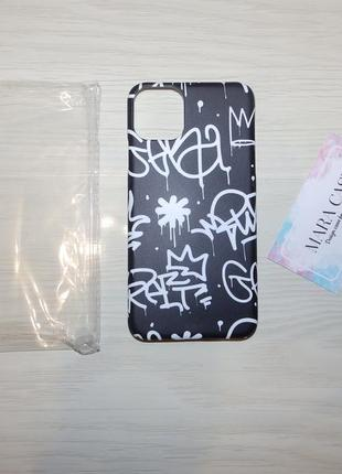 Дизайнерские чехлы - mara case iphone 11 6.5 black graffiti
