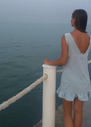 Платье с открытой спинкой, размер с