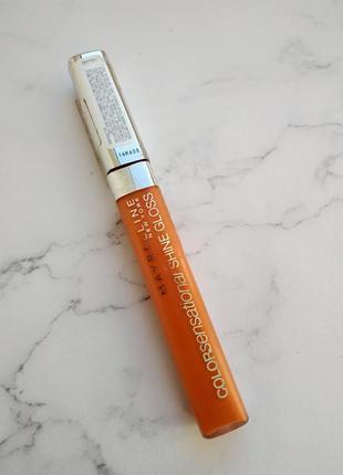 Прозрачный коралловый оранжевый блеск maybelline 460 electric orange