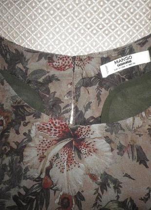 Легкое платье туника в тропический принт