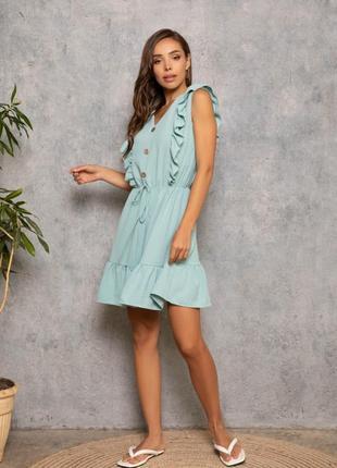 Міні плаття з рюшами