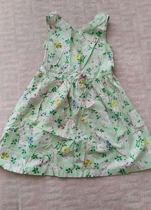 Фирменное платье h&m на 5-6 лет.