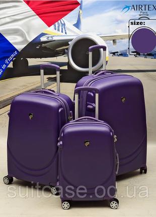 Ударостойкий, французский чемодан из поликарбоната, airtex mercure 902