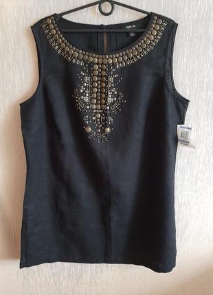 Блуза топ из льна style&co