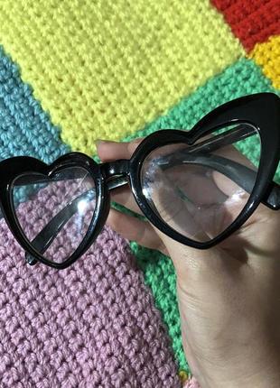 Очки сердечки прозрачные имиджевые2 фото