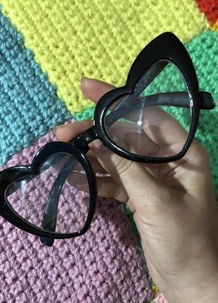 Очки сердечки прозрачные имиджевые