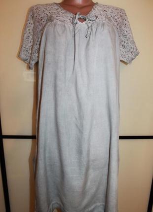 Платье свободного кроя с кружевом sandwich