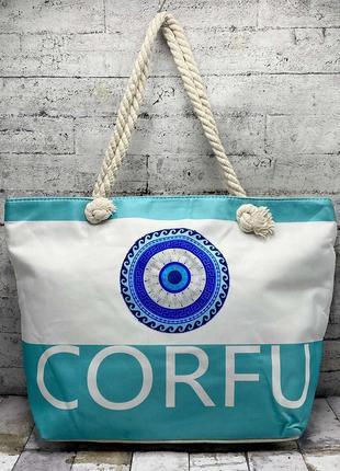 Пляжна річна легка сумка, на пікнік, шопер, легка пляжна торба