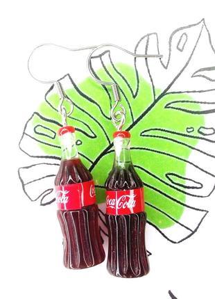 Кока кола / серьги / серёжки / украшения