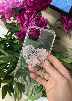 Прозрачный силиконовый чехол на айфон 12 про
