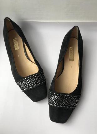 Замшевые туфельки gabor