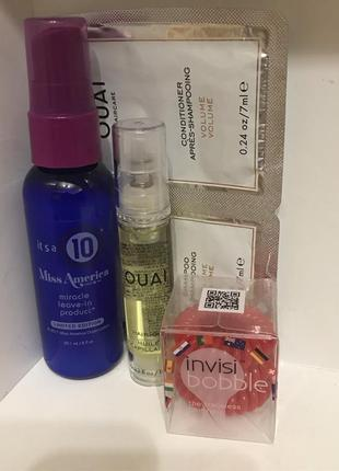 It`s a 10 miracle leave-in, масло ouai, invisibobble красные