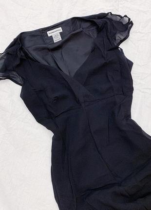 Чёрное маленнькое шёлковое платье под винтаж