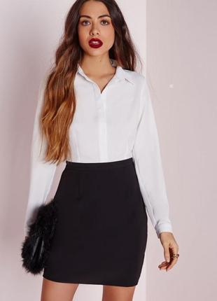 Платье с отрезной талией в стиле suit с рубашечным верхом missguided1 фото