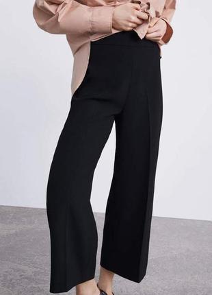 Широкие брюки с защипами zara woman2 фото