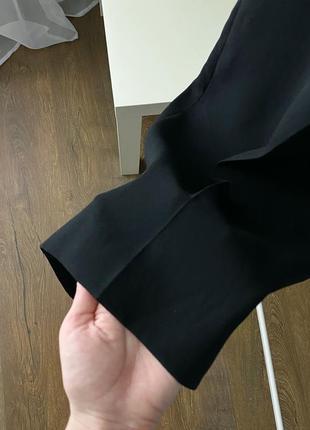 Широкие брюки с защипами zara woman7 фото