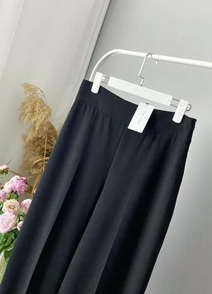 Широкие брюки с защипами zara woman8 фото