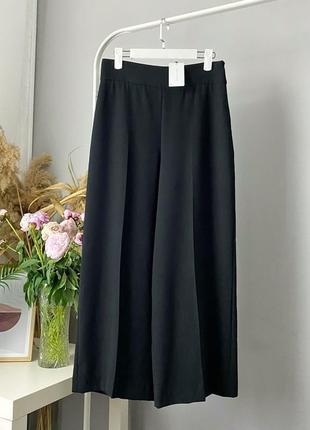 Широкие брюки с защипами zara woman10 фото