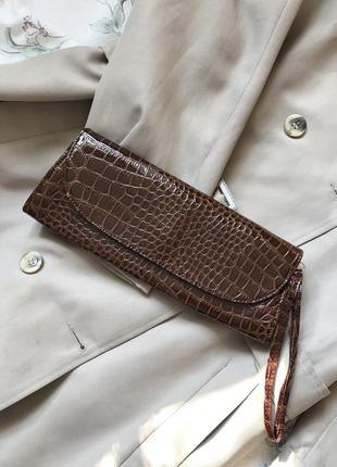 Маленькая сумочка клатч под кожу питона