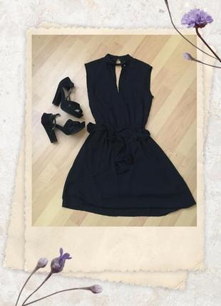 H&m чёрное  платье divided