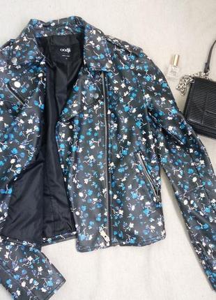 Крутая куртка косуха в цветочный принт bershka