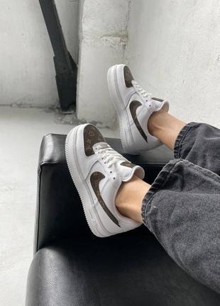 ❤ женские белые кожаные кроссовки nike air force  ❤