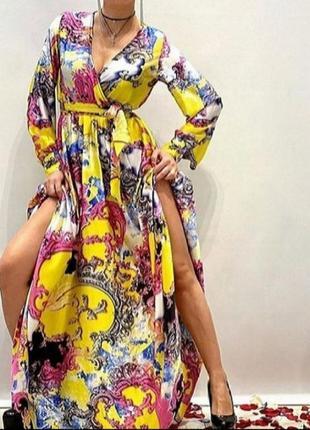 Шикарное красочное платье, люкс качество, размер хл.