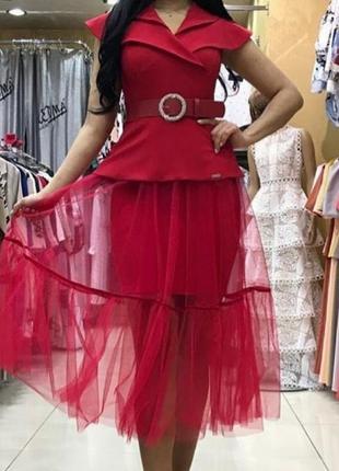 Невероятно стильное деловое платье, люкс качество стамбул.