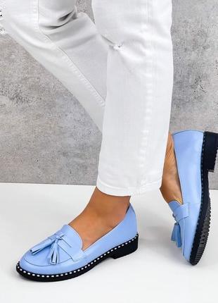 Акция! лоферы натуральная кожа женские туфли кожаные лофери туфлі жіночі  шкіряні