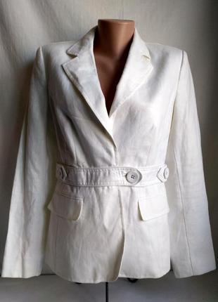 Льняной летний пиджак белый next