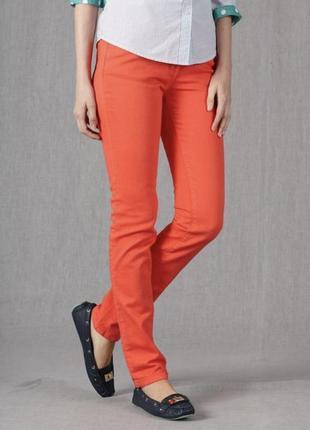 Оранжевые джинсы скини апероль esprit