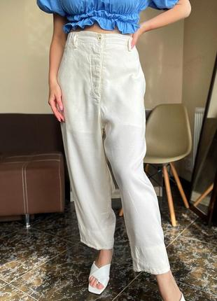 Льняные светлые брюки annette gortz оригинал
