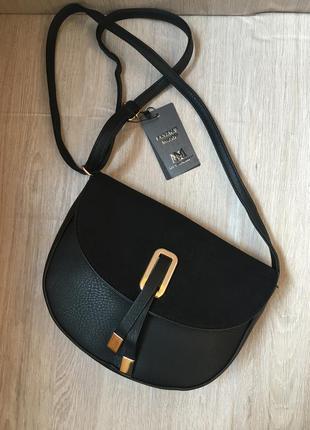 Сумка на длинной ручке сумочка трендовая и стильная с оригинальной застежкой