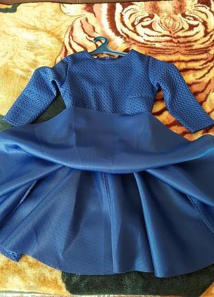Платье синее, новое, размер 44-46
