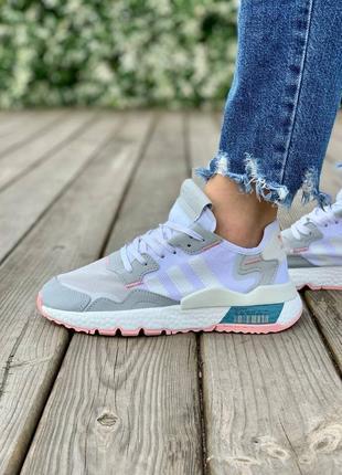 Adidas nite jogger one 'light grey pink' адидас джогер наложенный платёж купить