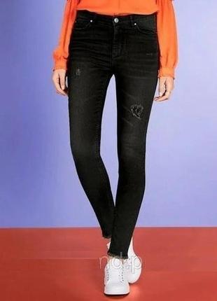 Женские рваные джинсы с высокой посадкой, s 36 euro, esmara, германия