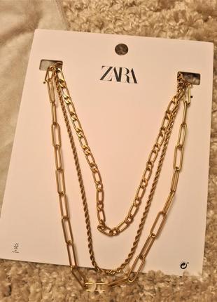 Колье цепочка zara