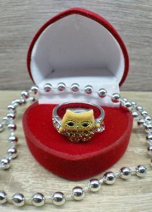 Женское кольцо сова