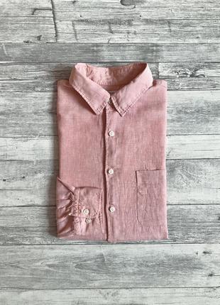 Льняная рубашка uniqlo