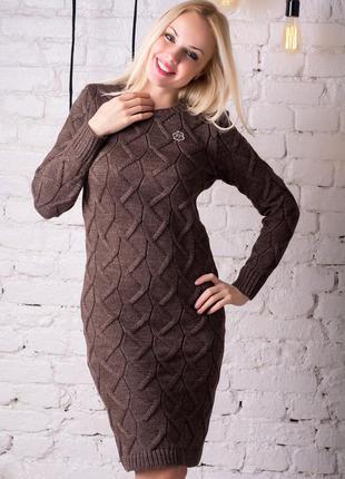 Теплое уютное платье pr8741, разные цвета, р.s,m