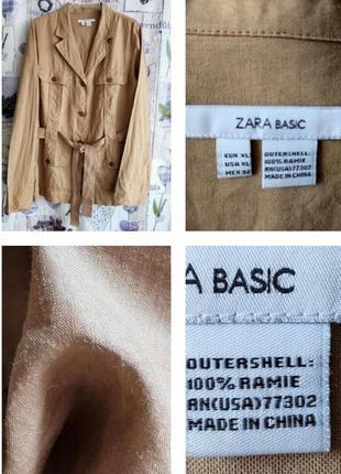 Актуальный жакет, рубашка в стиле сафари из 💯 рами (крапива!)