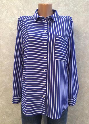 Блузка рубашка  в полоску topshop