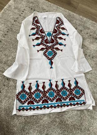 Плаття/сукня/туника/белая блуза/топ/оверсайз/вишиванка/вишивка