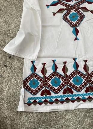 Плаття/сукня/туника/белая блуза/топ/оверсайз/вишиванка/вишивка4 фото
