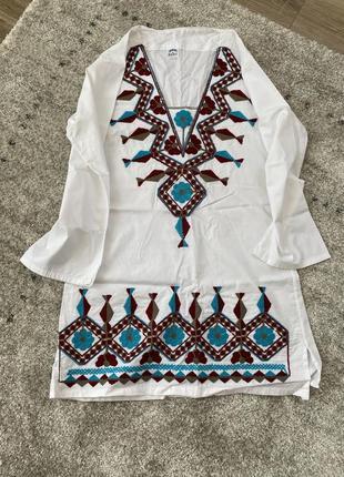 Плаття/сукня/туника/белая блуза/топ/оверсайз/вишиванка/вишивка5 фото