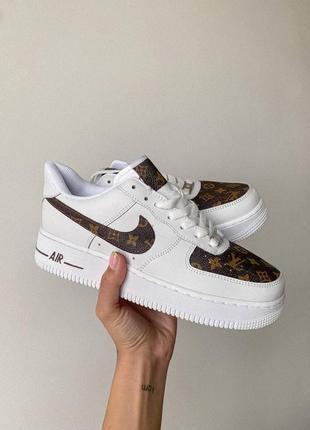 ❤ женские белые кожаные кроссовки nike air force 1    ❤