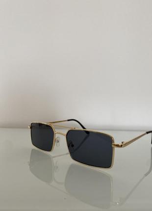 Черные винтажные квадратные солнцезащитные очки