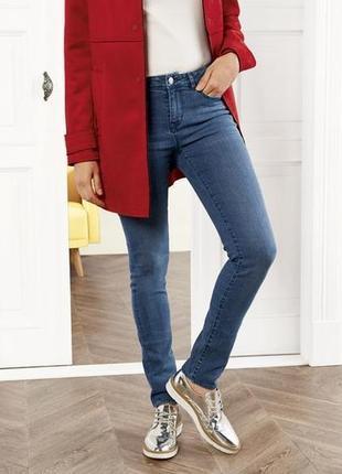 Синие джинсы скинни, зауженные, s 36 euro, esmara, германия