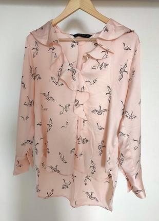 Блуза журавлями zara.